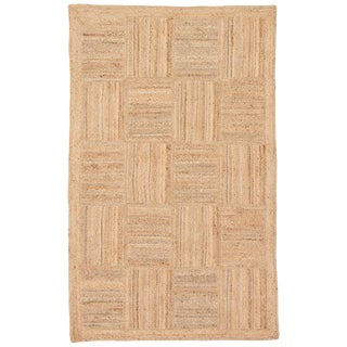 Jaipur Living Aaron Natural Geometric Tan Area Rug - 8' X 10' For Sale