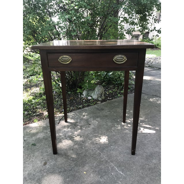 Metal Early American Kittinger Table For Sale - Image 7 of 9