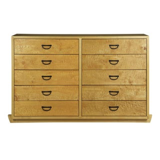 Craig Yamamoto Cherry and Figured Maple Ten-Drawer Dresser For Sale