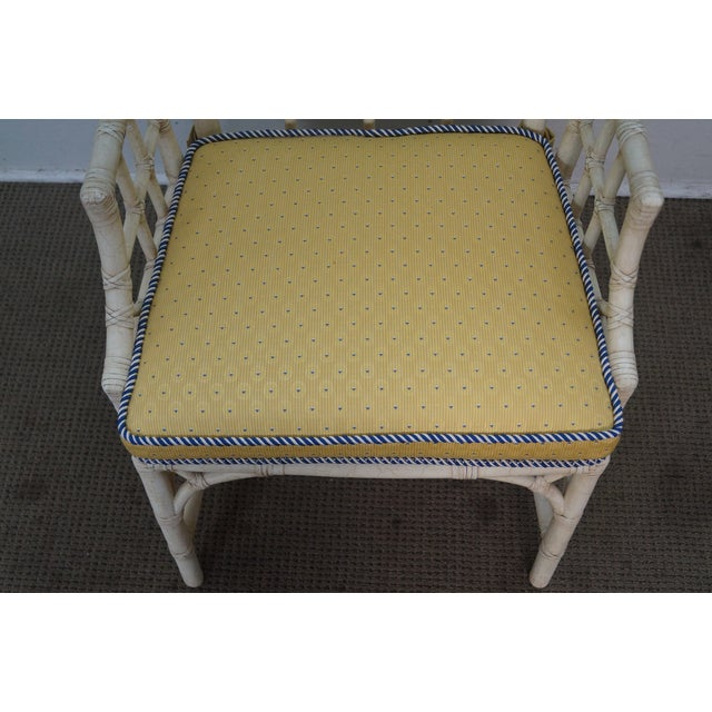 McGuire Chinese Chippendale Style Rattan Arm Chair - Image 7 of 10