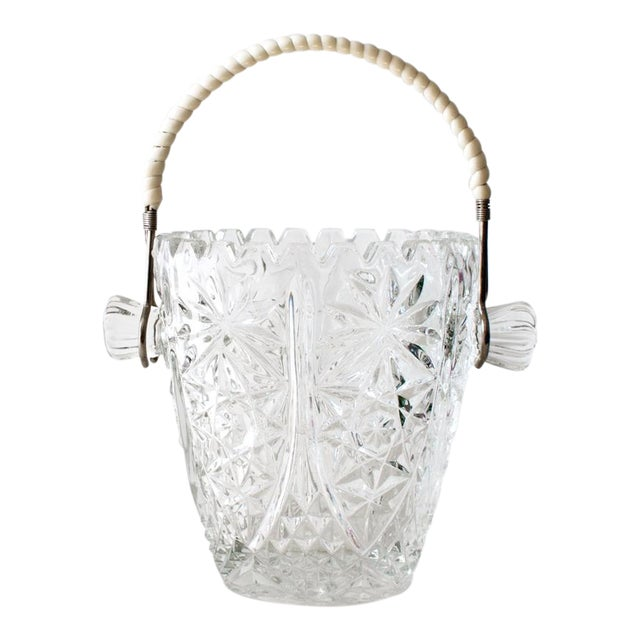 Crystal Ice Bucket With Wrapped Handle - Image 1 of 4