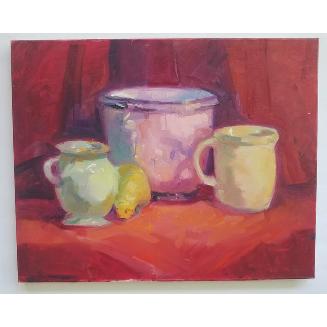 Contemporary 1990s Contemporary Still Life Painting For Sale - Image 3 of 3