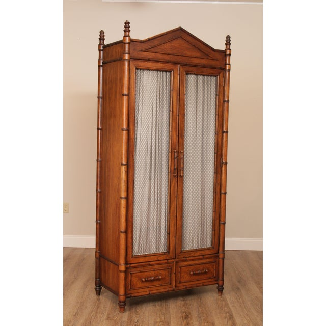 High Quality American Made Oak 2 Door Armoire with Interior Shelves and Dovetailed Drawers Store Item#: 24283