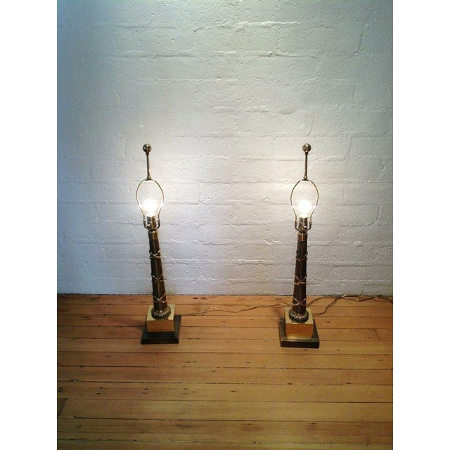 Contemporary 1970s Vintage Chapman Table Lamps - A Pair For Sale - Image 3 of 5