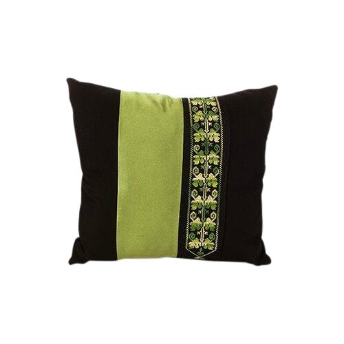 Bedouin Green Hand Embroidered Pillow For Sale