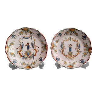 19th Century Moustiers French Plates - A Pair