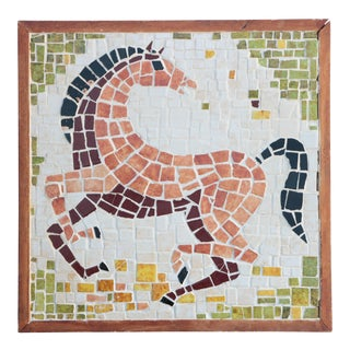 Mid-Century Horse Wall Mosaic For Sale