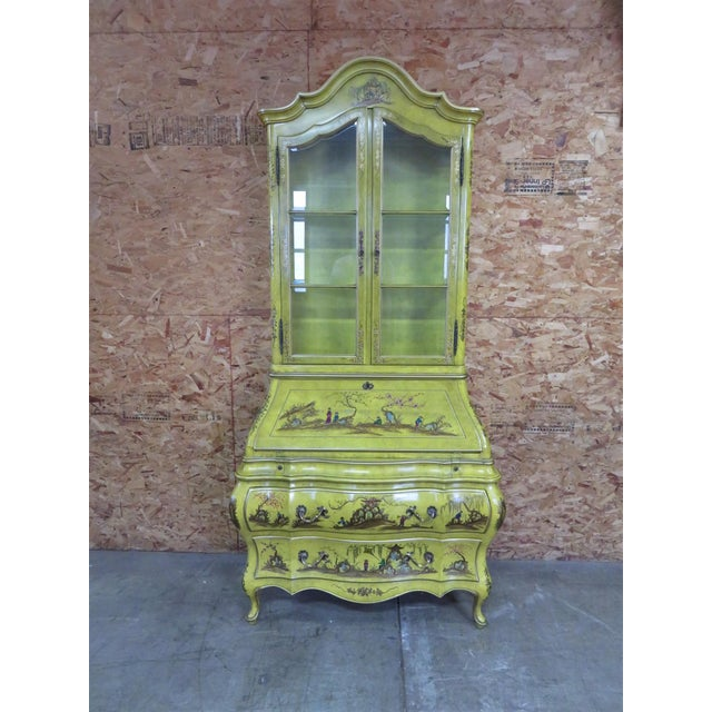 Green Chinoiserie Bombay Secretary Desk For Sale - Image 8 of 8