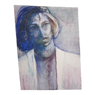 Abstract Woman Signed Painting For Sale