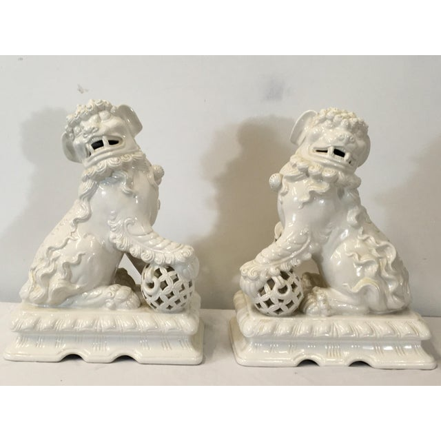 Italian Large Scale Foo Dogs - a Pair - Image 6 of 6