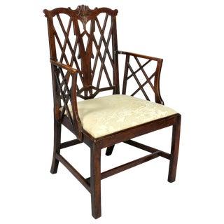George III Yewwood Cockpen Armchair For Sale
