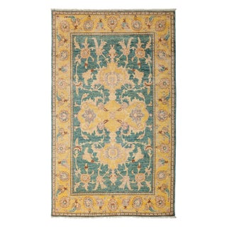 "Turkish Oushak Hand Knotted Area Rug - 5' 1"" X 8' For Sale"