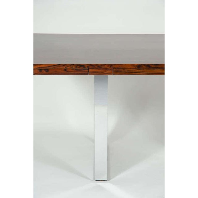 Roger Sprunger for Dunbar Rosewood & Chrome Executive Desk For Sale In New York - Image 6 of 10