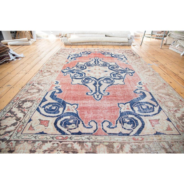 "Distressed Oushak Carpet - 6' X 9'4"" - Image 2 of 10"