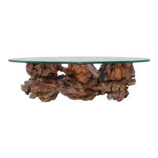 1960s Mid-Century Organic Form Tree Root Coffee Table For Sale