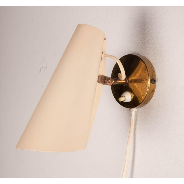 1950s Birger Dahl Adjustable Metal Cone Wall Sconces - a Pair For Sale - Image 5 of 5