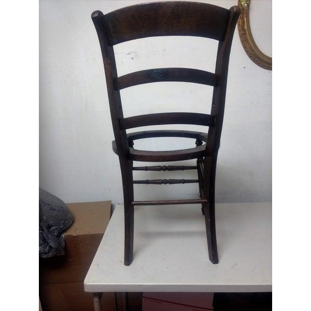 Antique Walnut Ladder Back Chair - Image 3 of 5