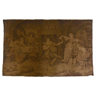 Antique European Jubilee Woven Tapestry For Sale