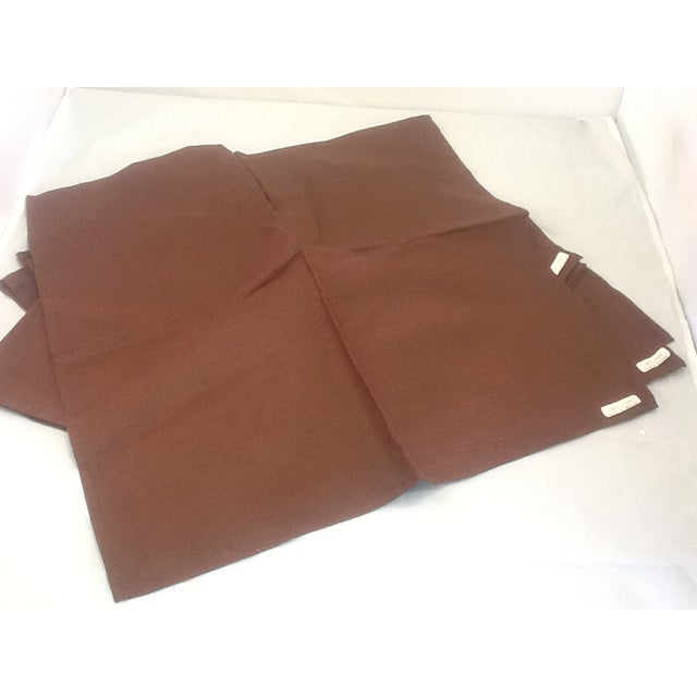 Irish Brown Linen Napkins - Set of 8 - Image 6 of 6