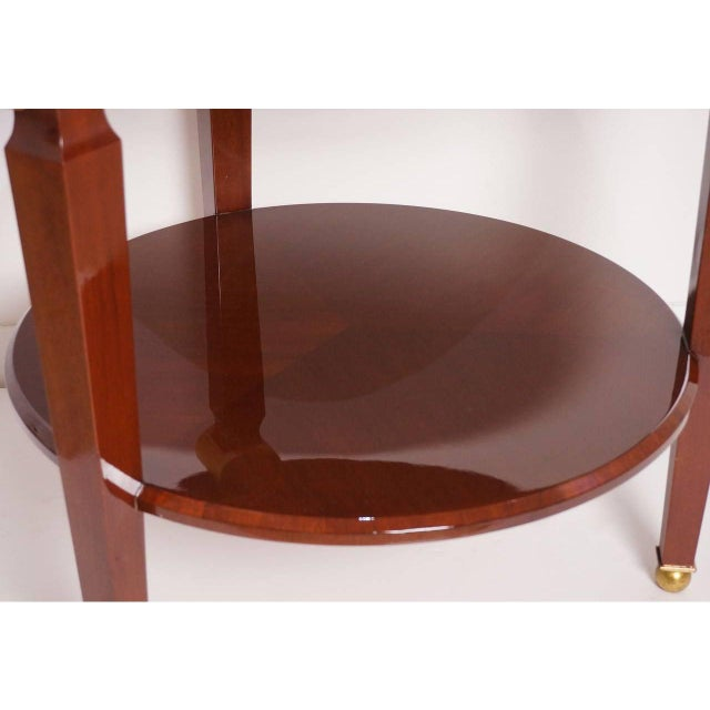Metal Mid-Century Maison Jansen Style Center Table Tiered Mahogany For Sale - Image 7 of 12