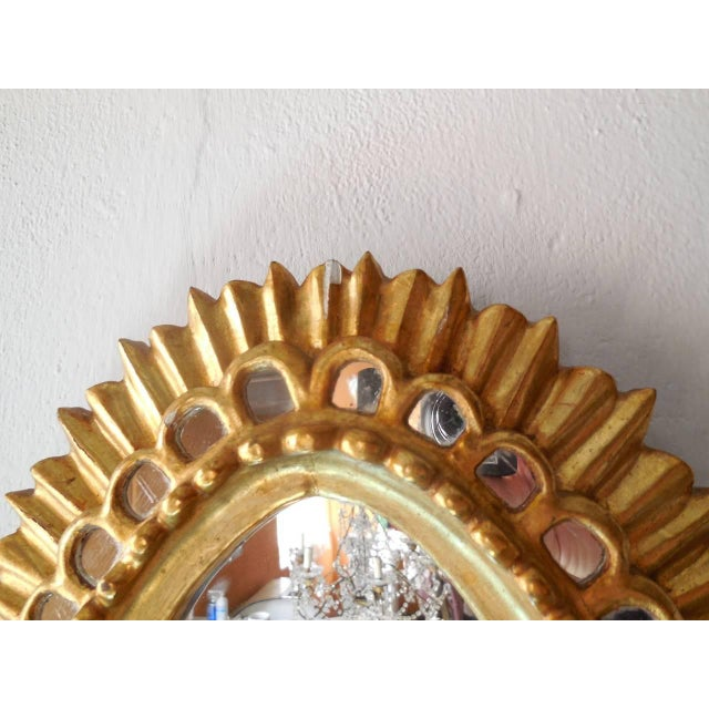 French Gold Gilt Wood Starburst Sunburst Mirror For Sale In Los Angeles - Image 6 of 11