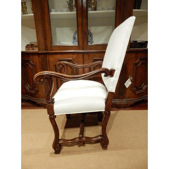 Italian Late 19th Century Italian Walnut Armchair For Sale - Image 3 of 9