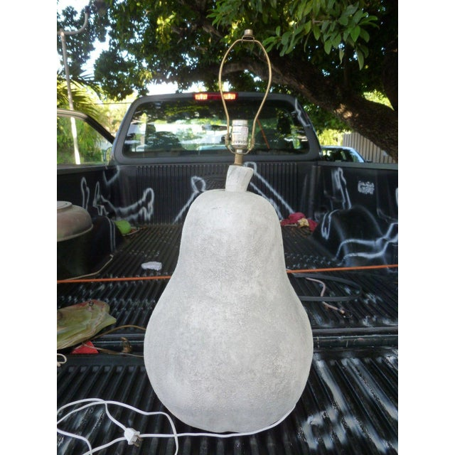 1970s Large 1970's Oversized Plaster Pear Table Lamp For Sale - Image 5 of 9