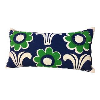 Erin Flett Green & Blue Flower Lumbar Pillow