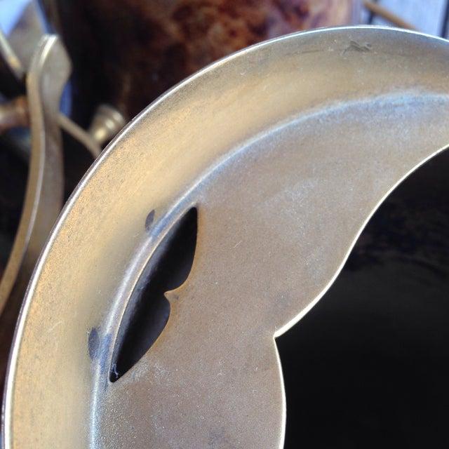 Animal Skin Aldo Tura Italian Lacquered Goatskin Brass Barware - Set of 4 For Sale - Image 7 of 10