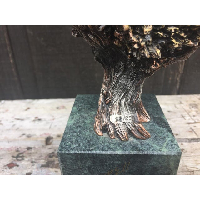 """""""Sunday Brunch"""" Bronze/Marble Eagle Sculpture by Kitty Cantrell For Sale - Image 9 of 11"""