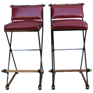 Cleo Baldon Style Bar Stools-a Pair For Sale