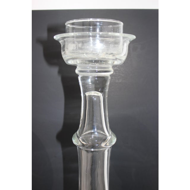 Blenko Vintage Blenko Glass Candle Holders - a Set of 2 For Sale - Image 4 of 13