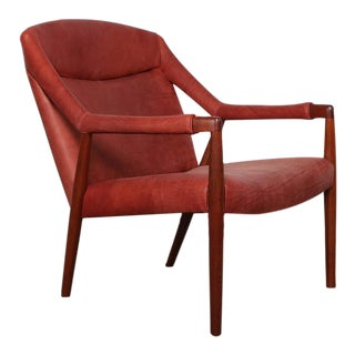 Rare Lounge Chair by Ib Kofod-Larsen For Sale