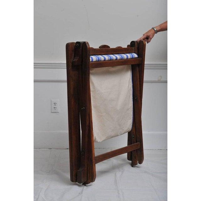 1940s Folding, Adjustable, Sling-Back Plantation Chair With Extending Leg Rests For Sale - Image 5 of 6