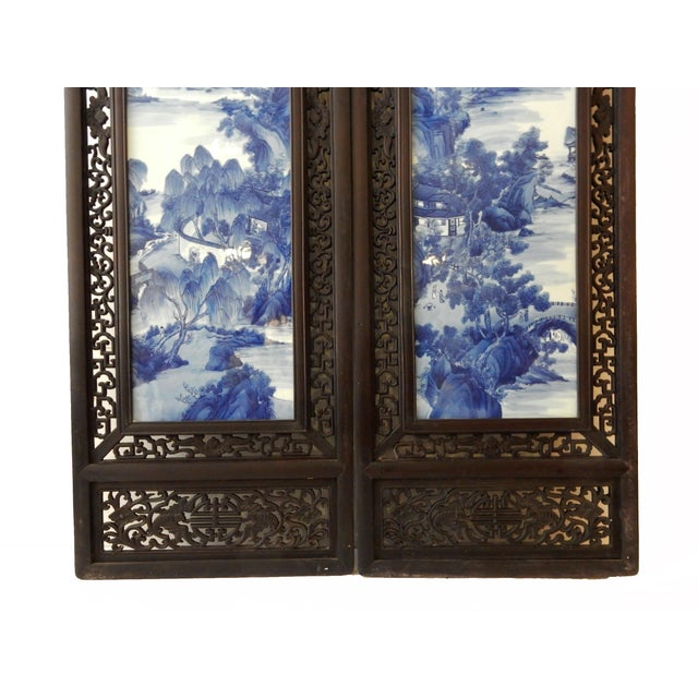 Porcelain Wood Panels - A Pair - Image 4 of 6