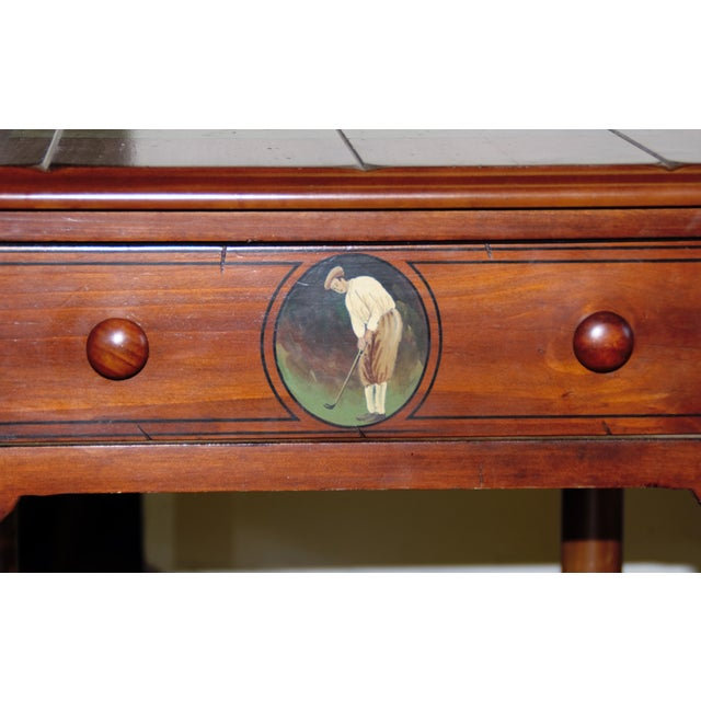 "Country St. Andrews ""Ireland"" Golf Club Side Table For Sale - Image 3 of 9"