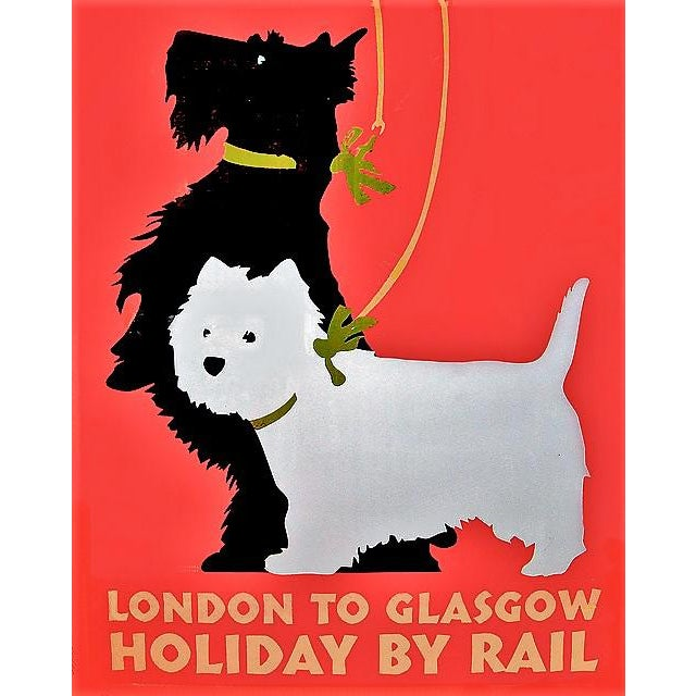 """Matted and Framed Vintage """"London to Glasgow"""" Travel Poster - Image 4 of 5"""