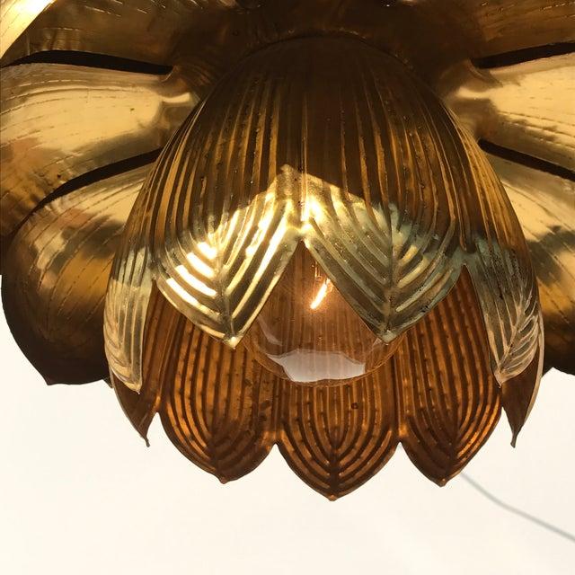 Feldman Brass Lotus Chandelier Lamp - Image 9 of 9