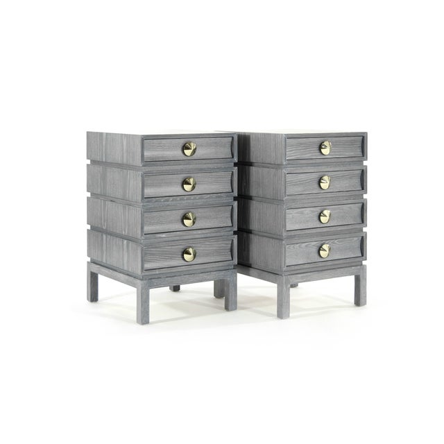 Stacked End Tables in Limed Oak For Sale - Image 4 of 12