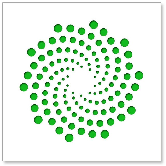 Chuck Krause Spirals (Green), original three dimensional geometric design wall relief 2020 For Sale - Image 4 of 4