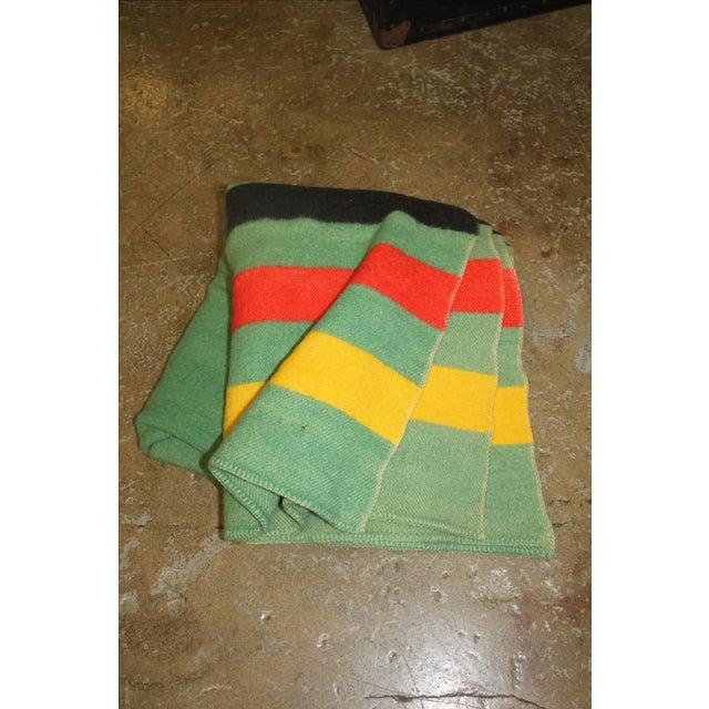 Vintage Colorful Stripe Wool Blanket - Image 2 of 4