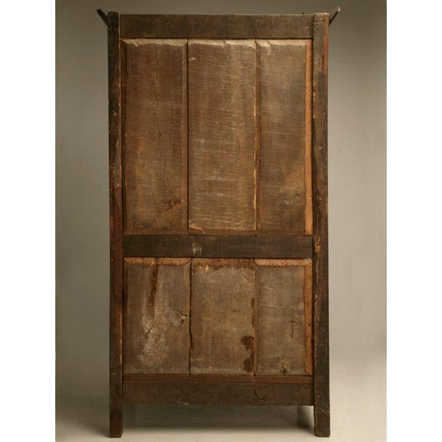 Exquisite 17th C. Hand-Carved French Louis XIV Bonnetiere/Armoire For Sale In Chicago - Image 6 of 11