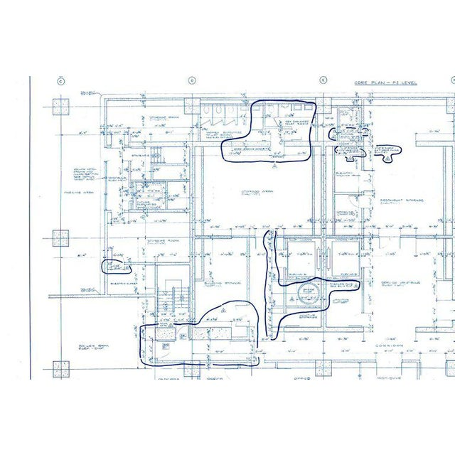 1960s Mies Van Der Rohe Blueprint, One Illinois Center 111 E. Wacker Chicago, 1968 For Sale - Image 5 of 13