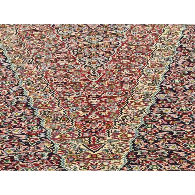 Textile Vintage Turkish Kilim Rug For Sale - Image 7 of 10