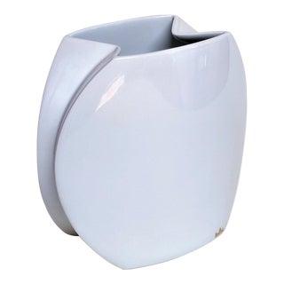 Mid-Century Modern Rosenthal White Ceramic Vase