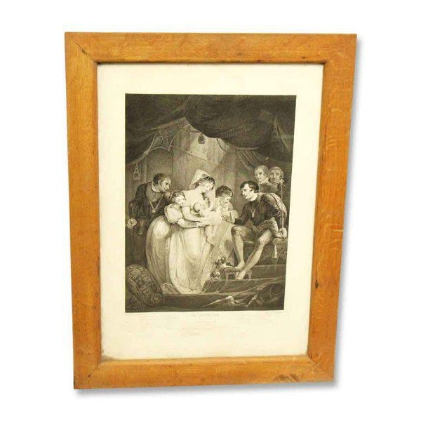 Vintage Shakespeare Print Newly framed.