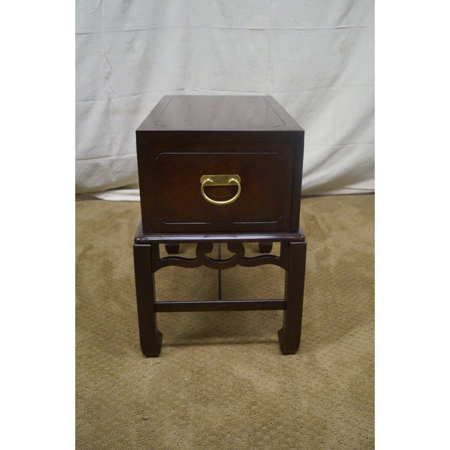 Asian Style Chest on Frame End Table - Image 3 of 10