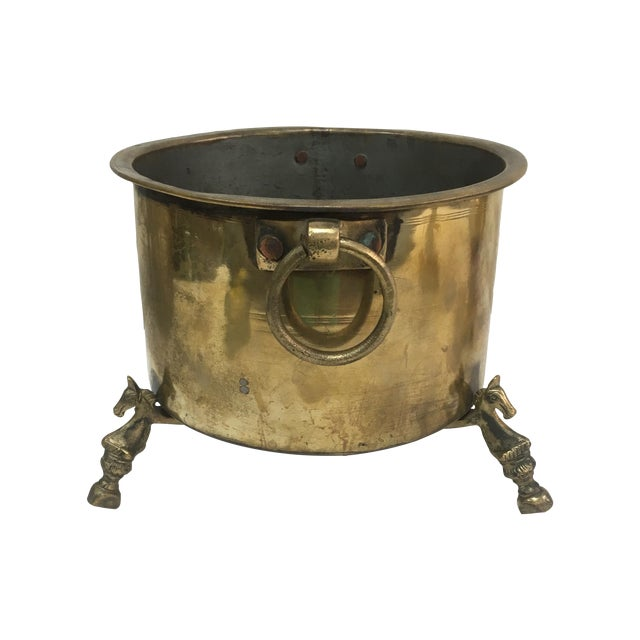 Antique French Brass Champagne Bucket - Image 1 of 5