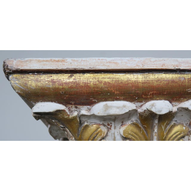 Gold 19th Century Italian Painted and Parcel Gilt Fireplace Mantel For Sale - Image 8 of 13