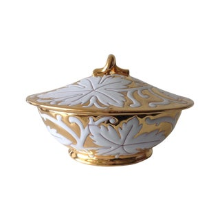 Italian Ceramic/Porcelain Gilt & Glazed Bowl - Final Markdown For Sale